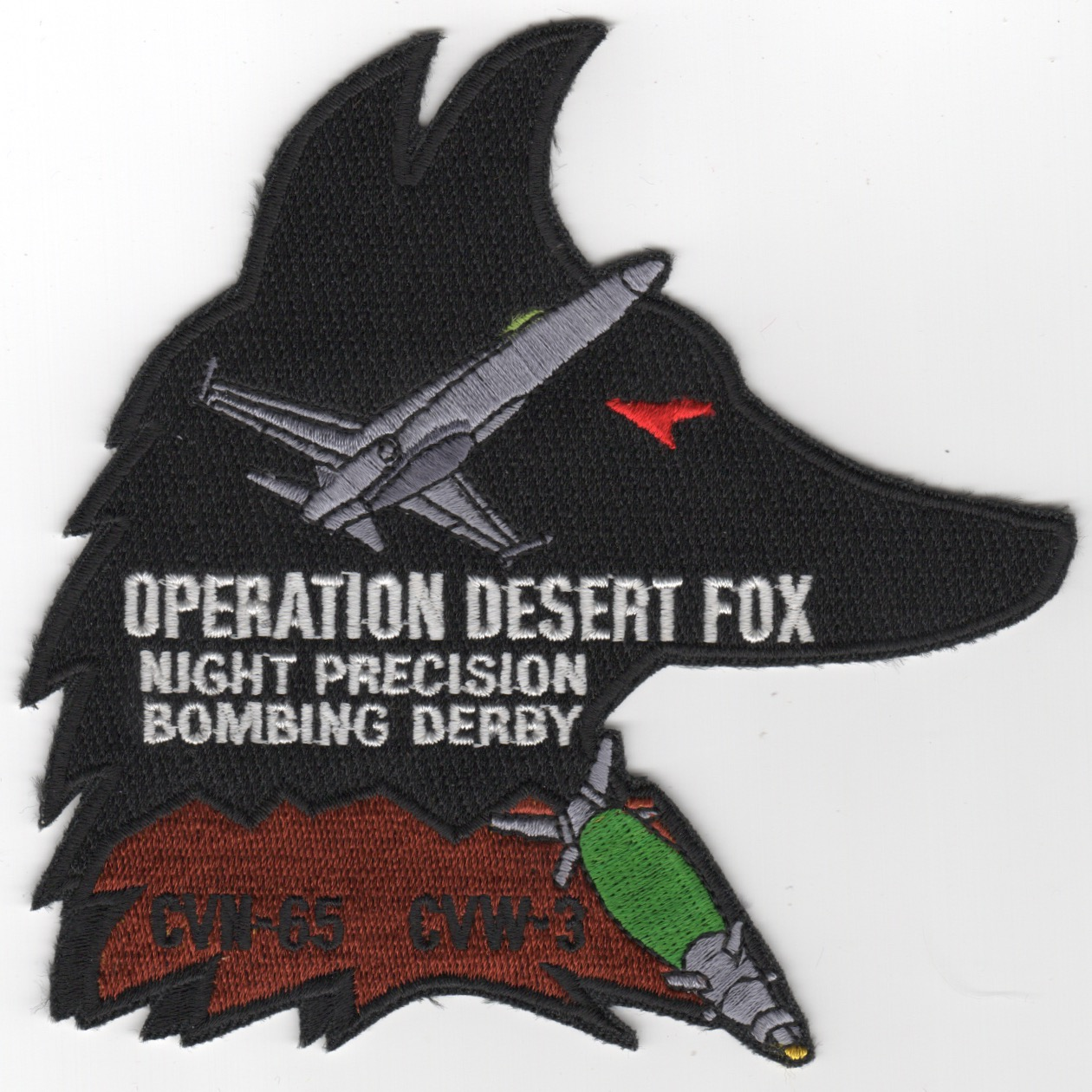 434) CVN-65 1998 'Op DESERT FOX' Cruise Patch