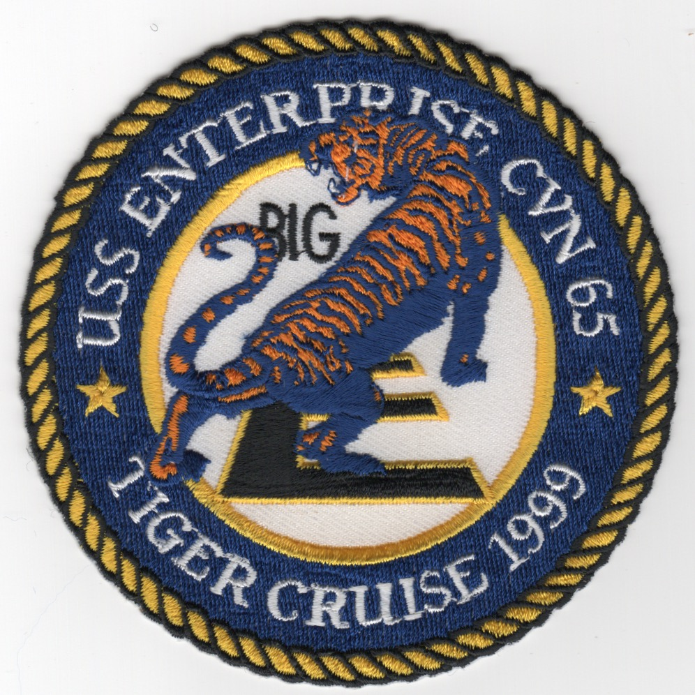 435) CVN-65 1999 'TIGER CRUISE' Patch