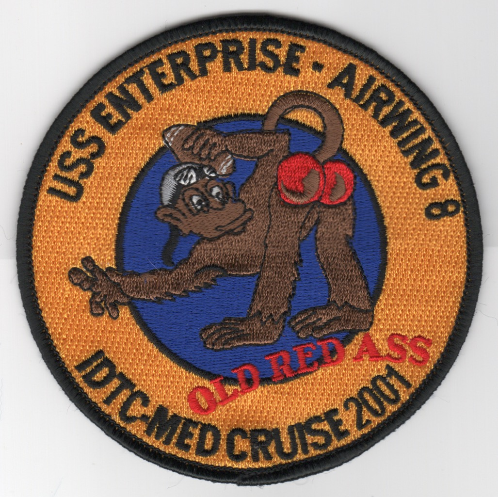 437) CVN-65/CVW-8 2001 'RED ASS' Cruise Patch
