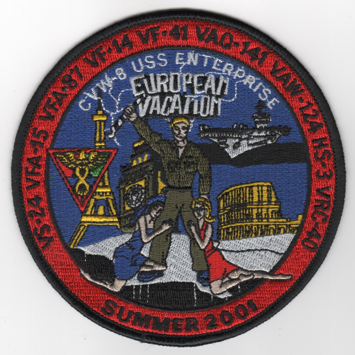 438) CVN-65/CVW-8 2001 'Euro Vac' Cruise Patch