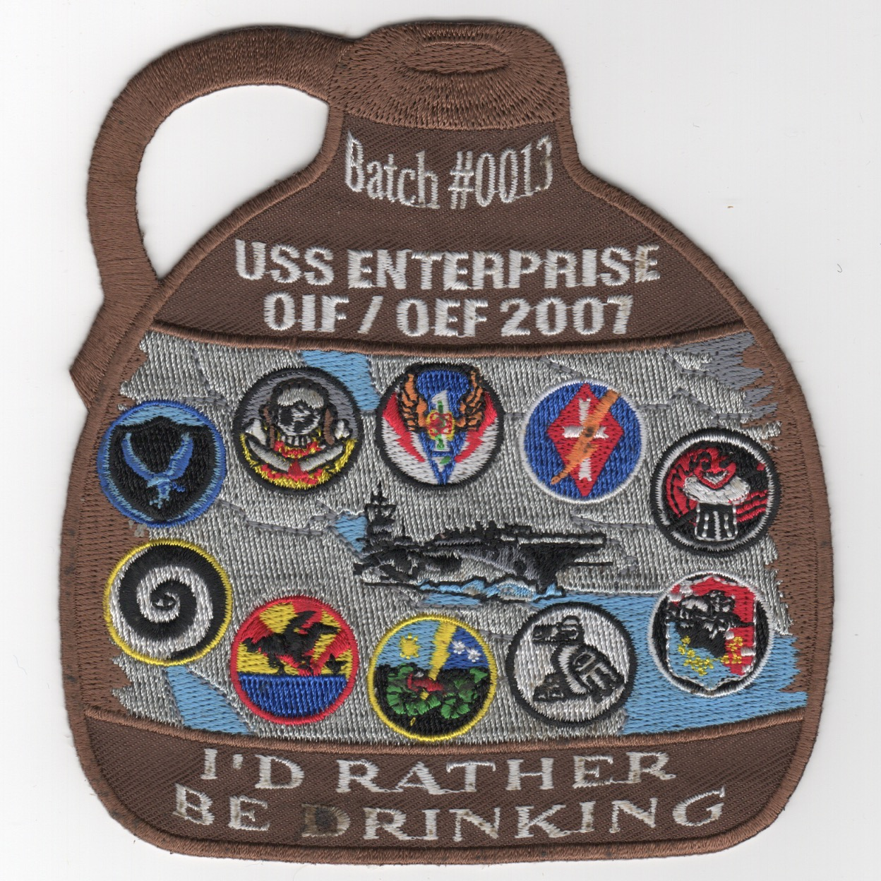 441) CVN-65 2007 'BROWN JUG' Cruise Patch