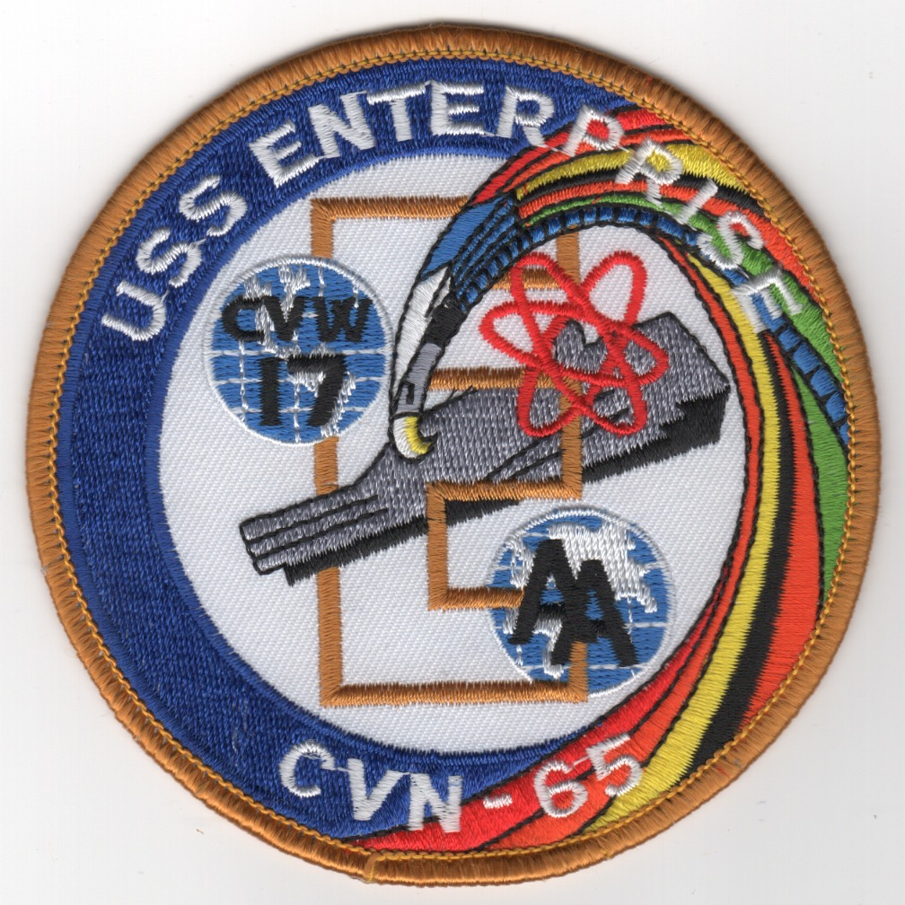 442) CVN-65 'RAINBOW' Swirl Carrier Patch