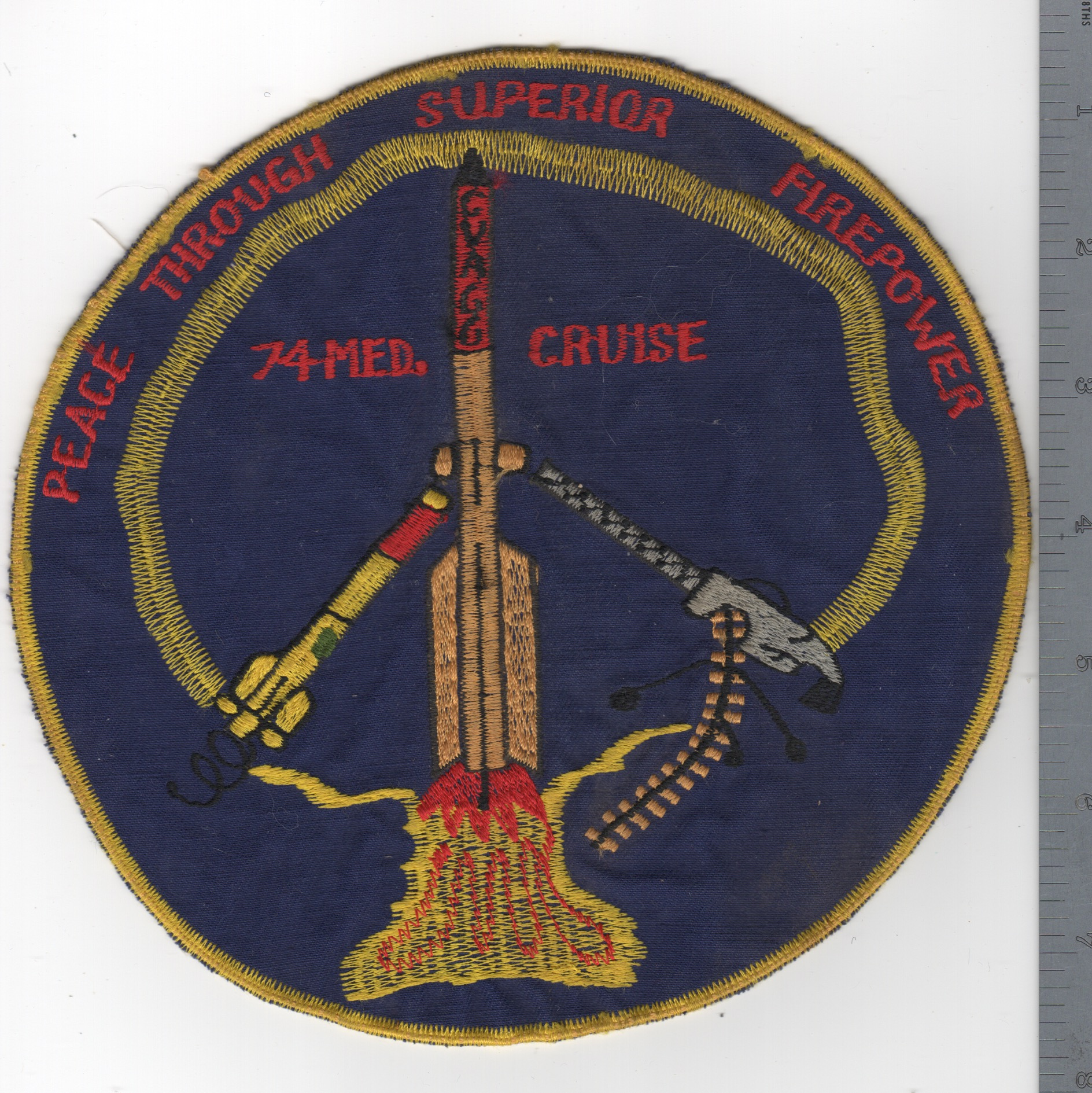 444) CVA-66 1974 MED Cruise Backpatch (OLD)