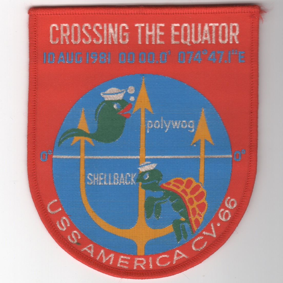 447) CV-66 1981 Equator Cruise (Woven/Red)
