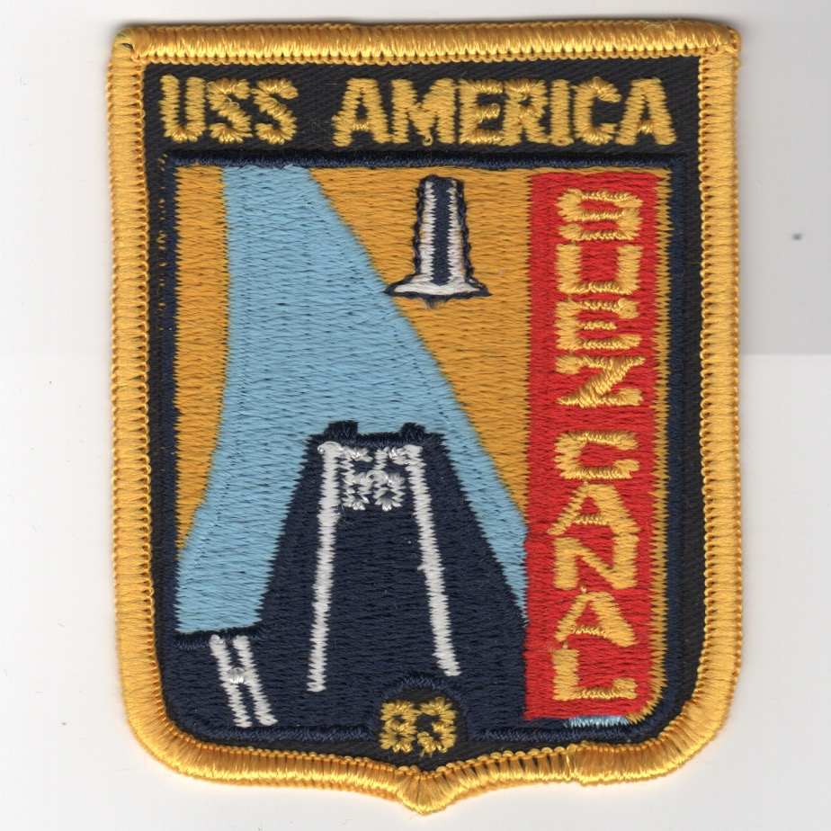 448) CV-66 1983 'SUEZ CANAL' Cruise Patch