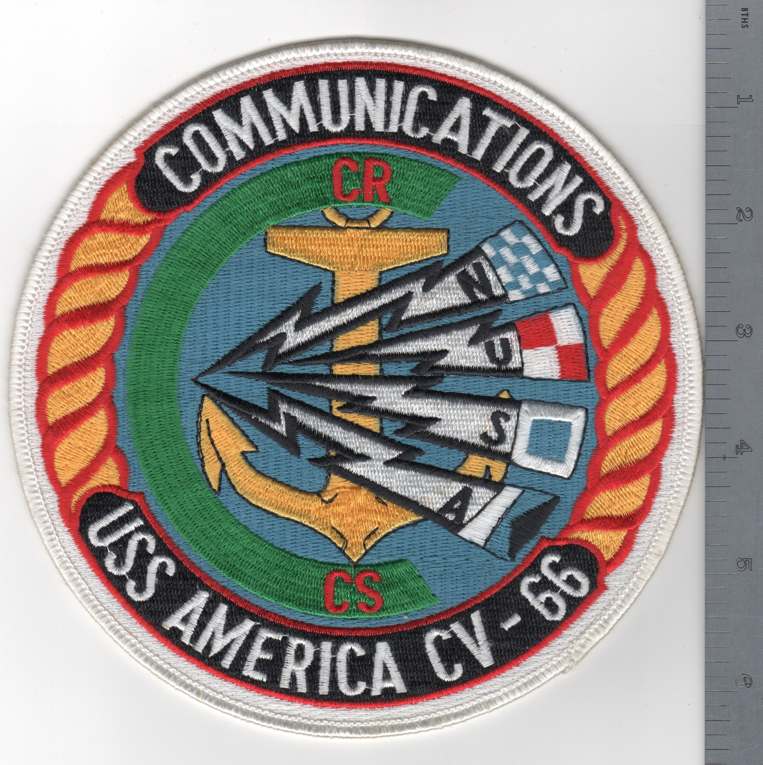 454) CV-66 'COMMS' Department Backpatch