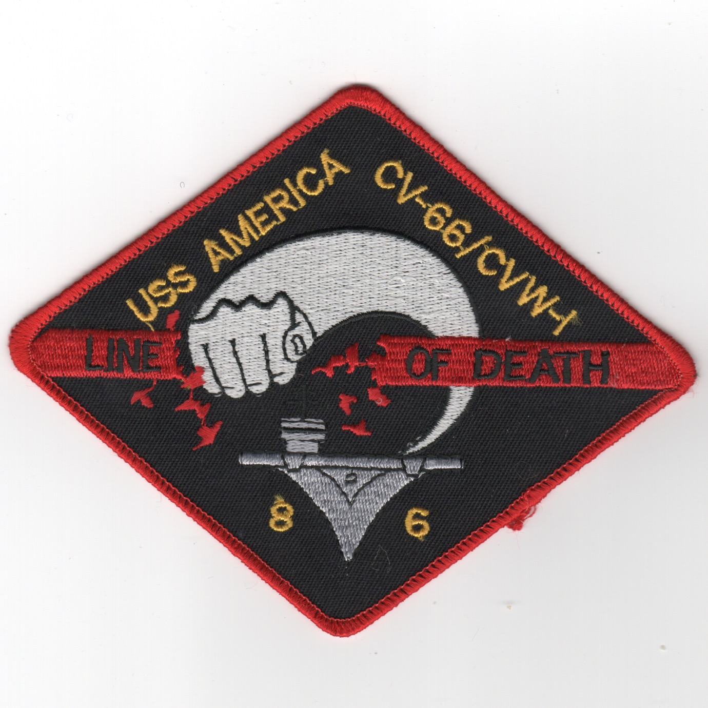 455) CV-66/CVW-1 1986 'Line of Death' Patch