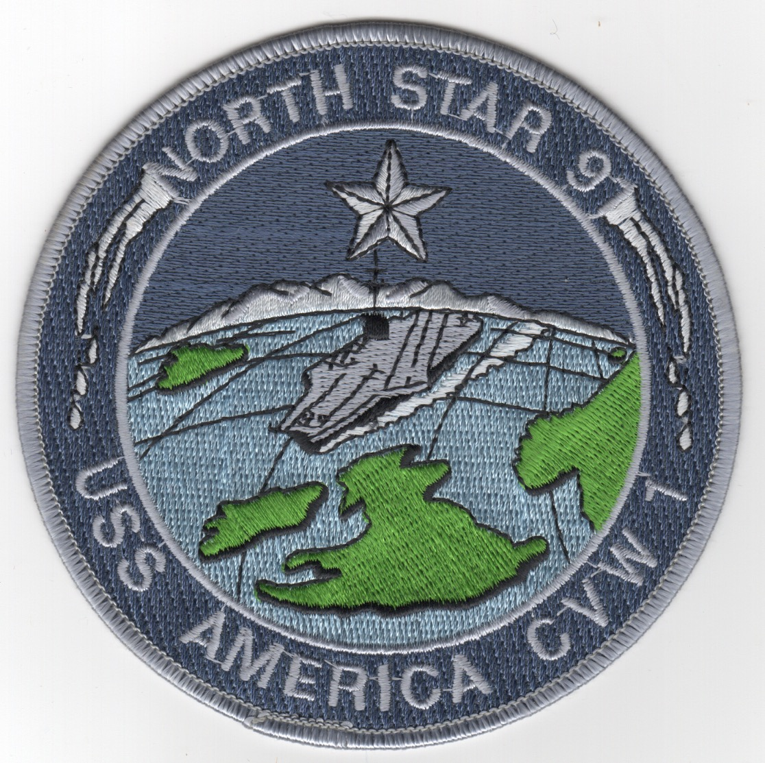 456) CV-66/CVW-1 1991 'NORTH STAR' Patch