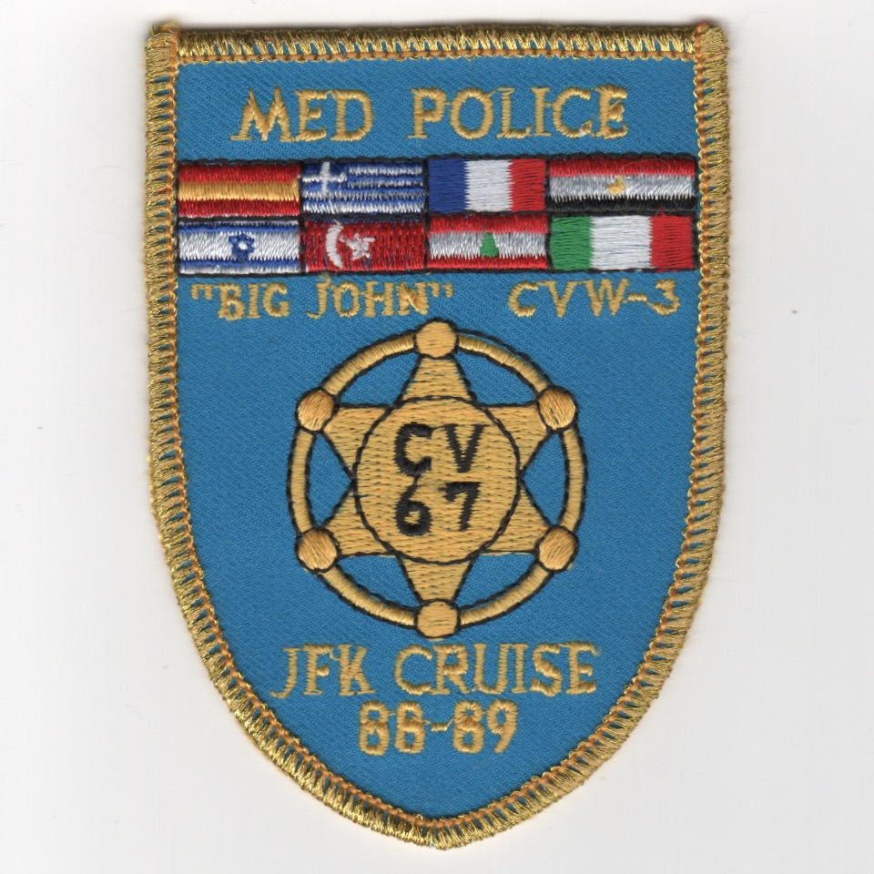 460-A) CV-67/CVW-3 '1988-89 'MED POLICE' Patch