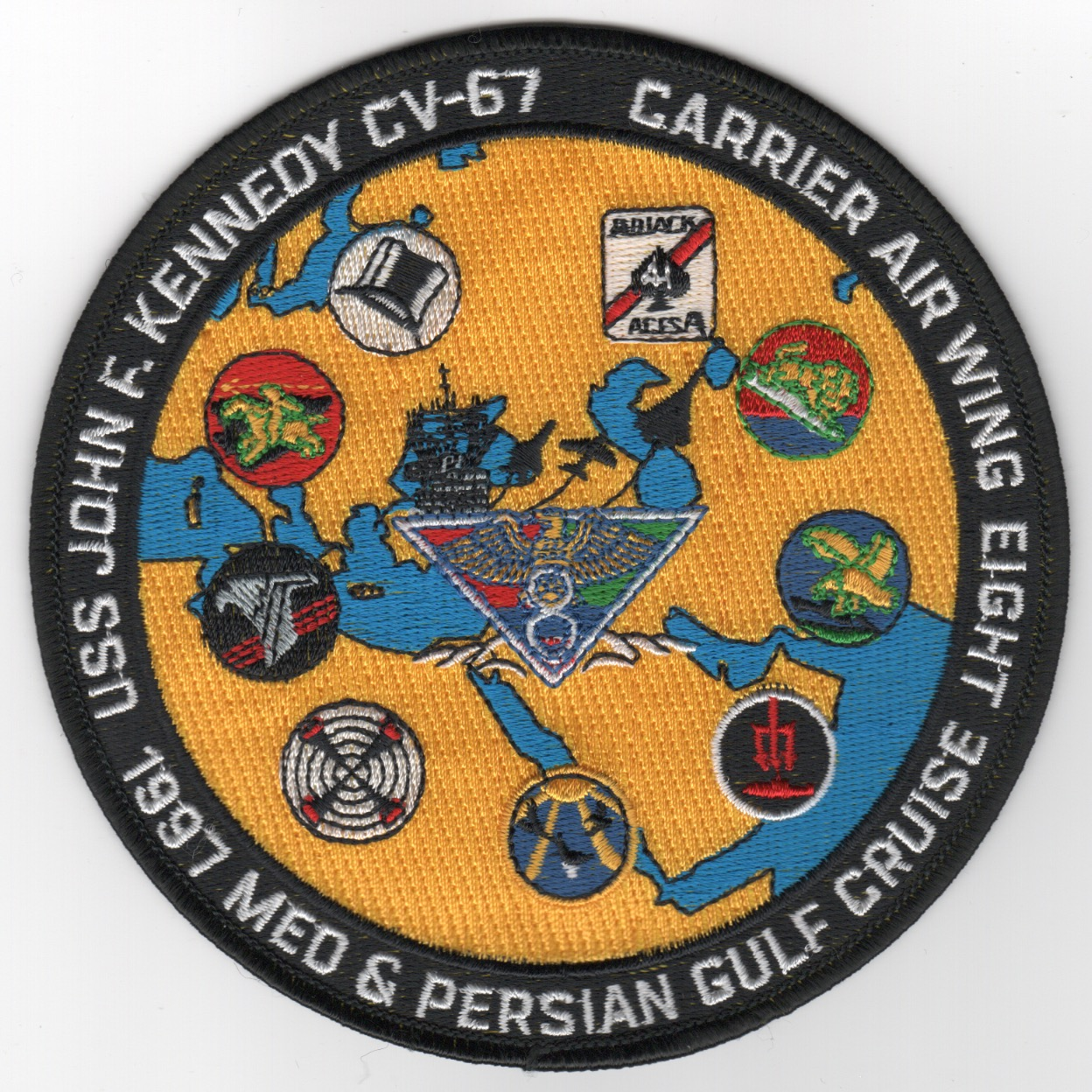 461) CV-67/CVW-8 '1997 'MED /GULF' Cruise Patch