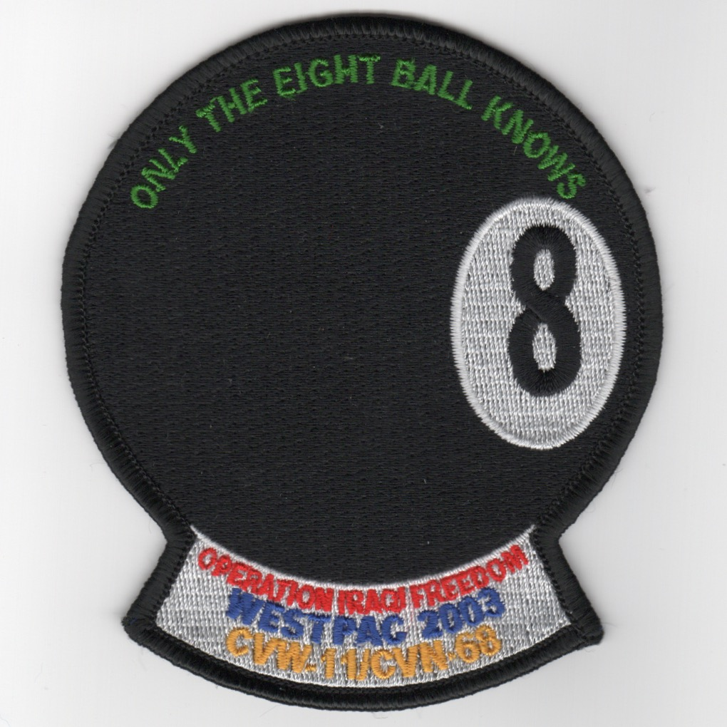 464) CVN-68/CVW-11 '8-Ball OIF' Cruise Patch