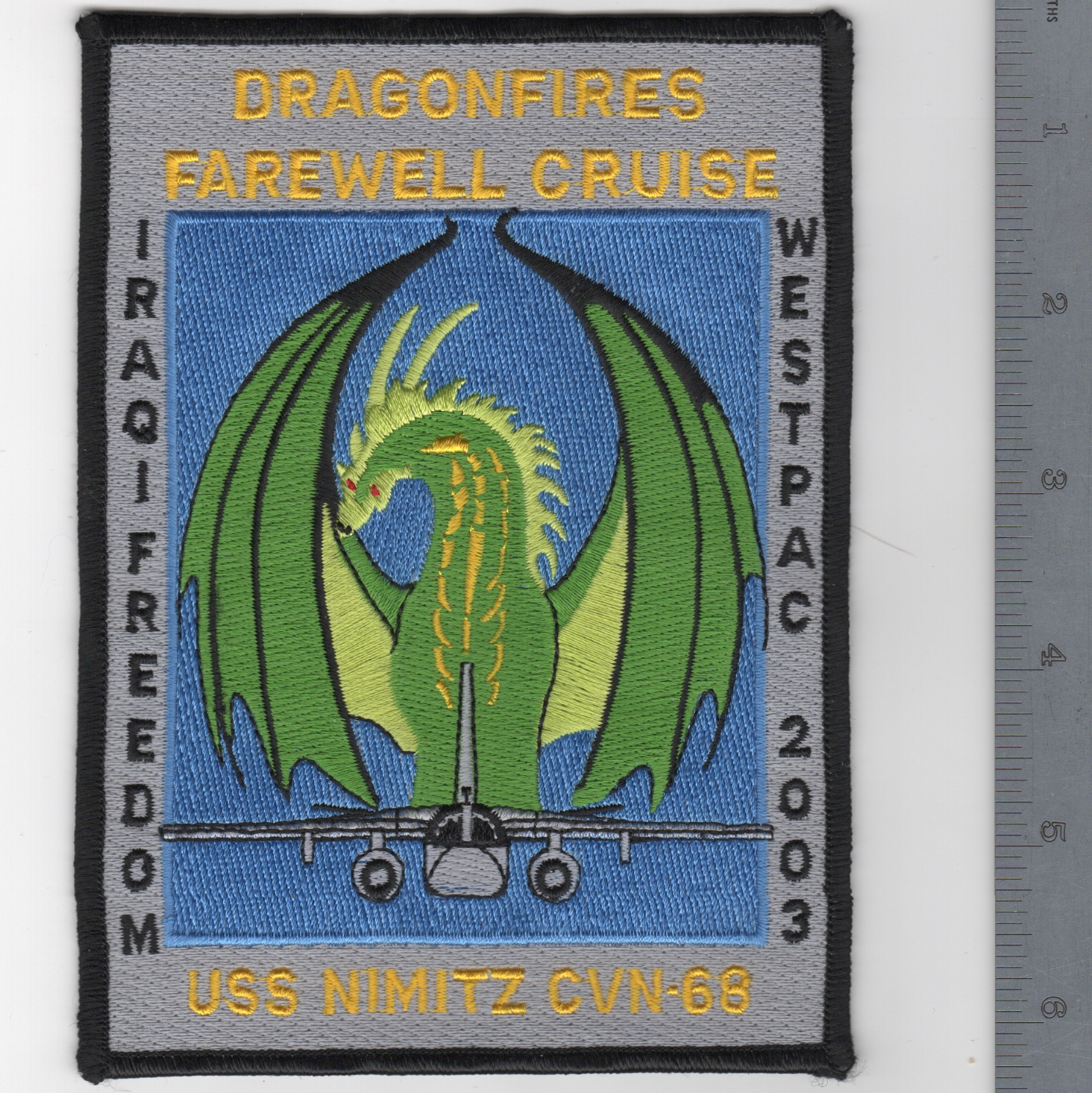 465) CVN-68 'DRAGONS FAREWELL' Cruise Patch