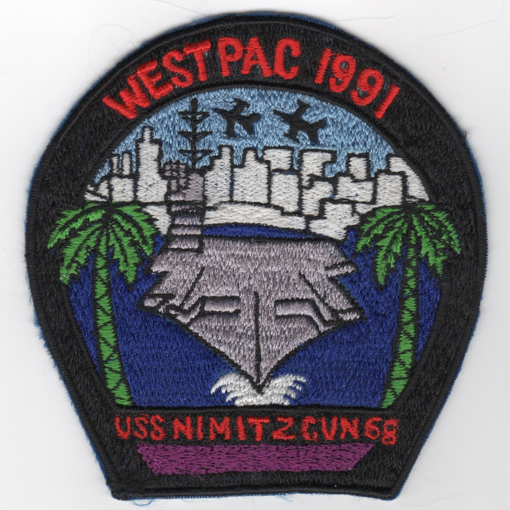 466) CVN-68 1991 'WESTPAC' Cruise Patch