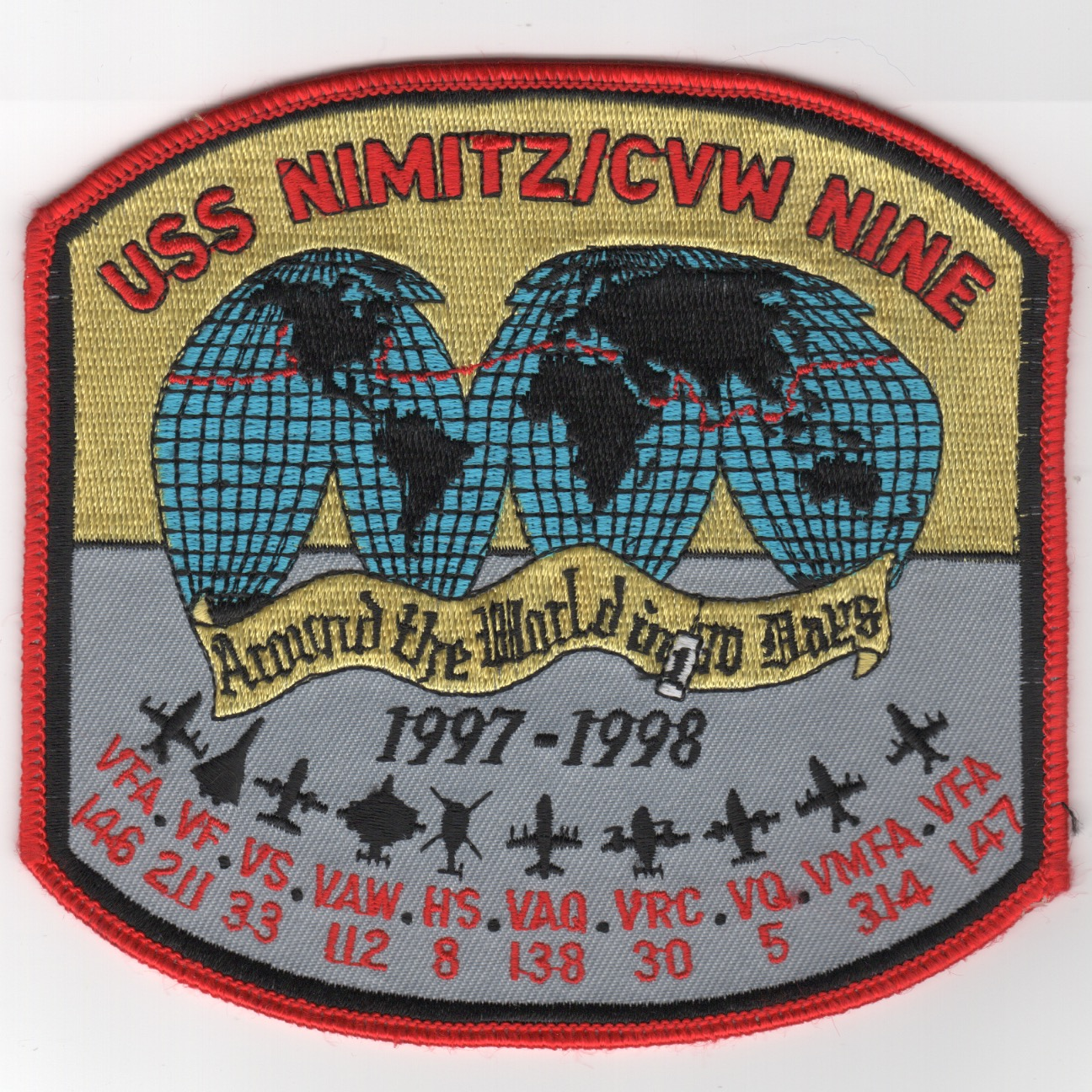 469) CVN-68/CVW-9 1997-98 'WORLD' Cruise Patch
