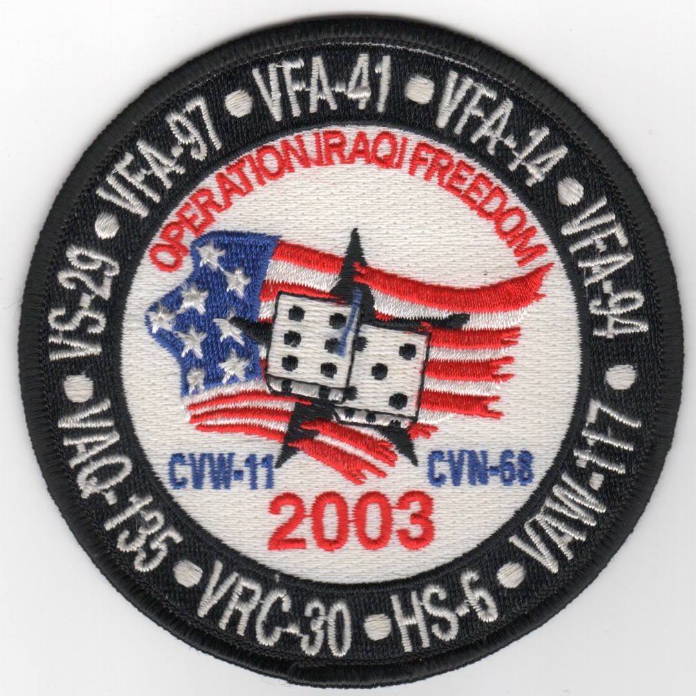 471) CVN-68/CVW-11 2003 'DICE' Cruise Patch