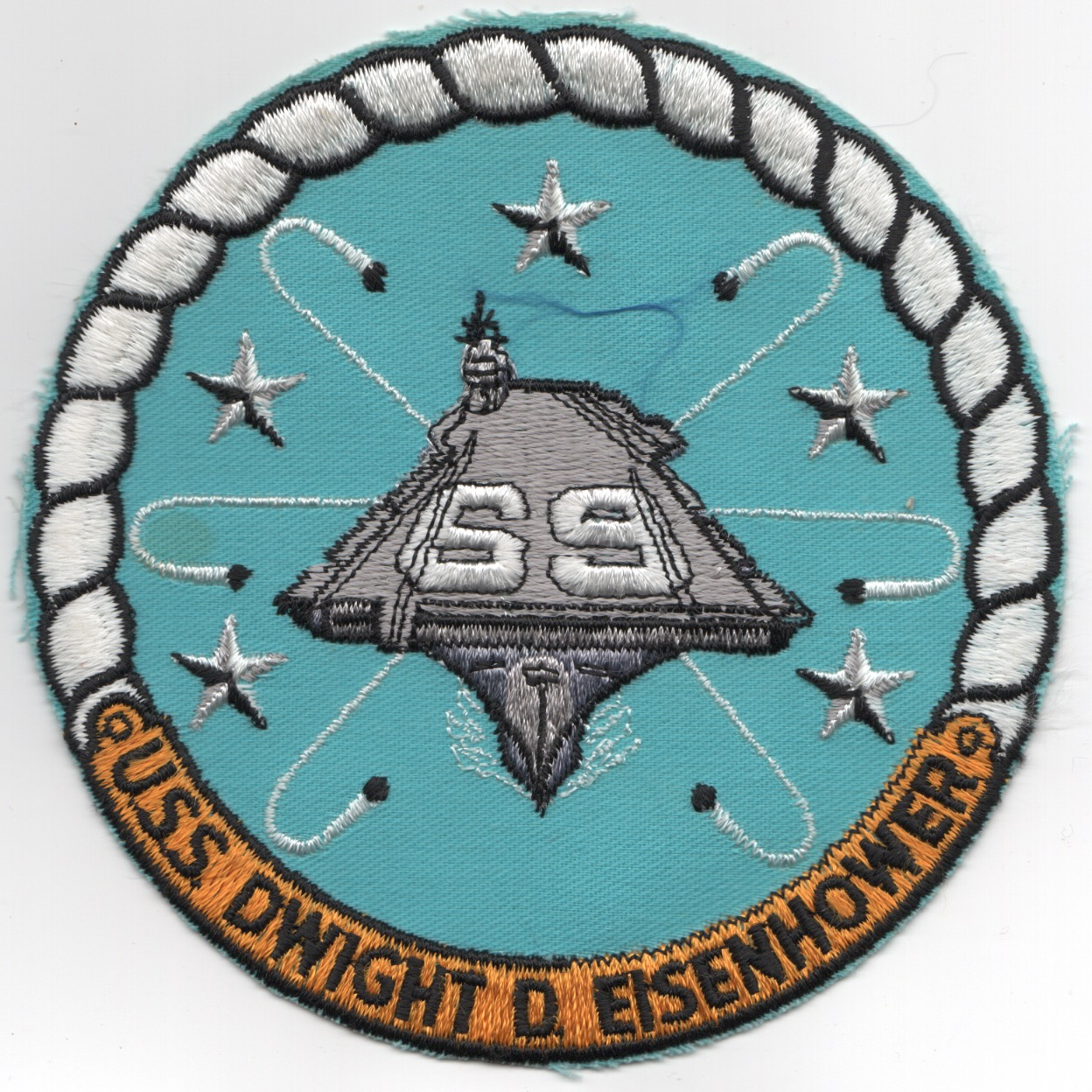 473) CVN-69 Ship Patch (Large)