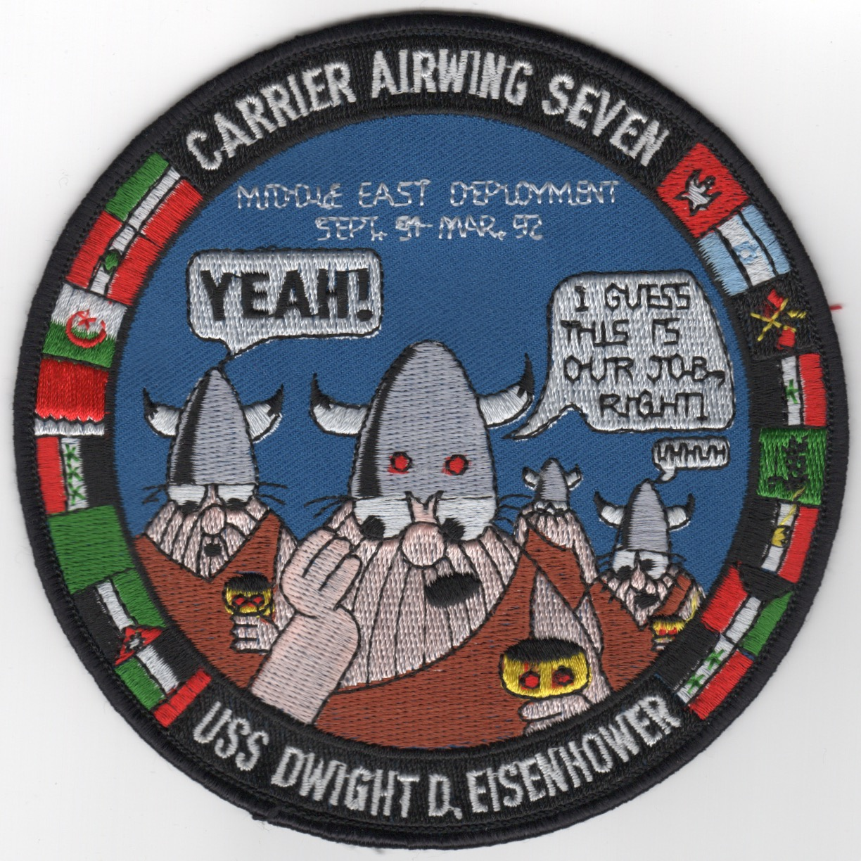 475) CVN-69/CVW-7 1991-92 'VIKING' Patch