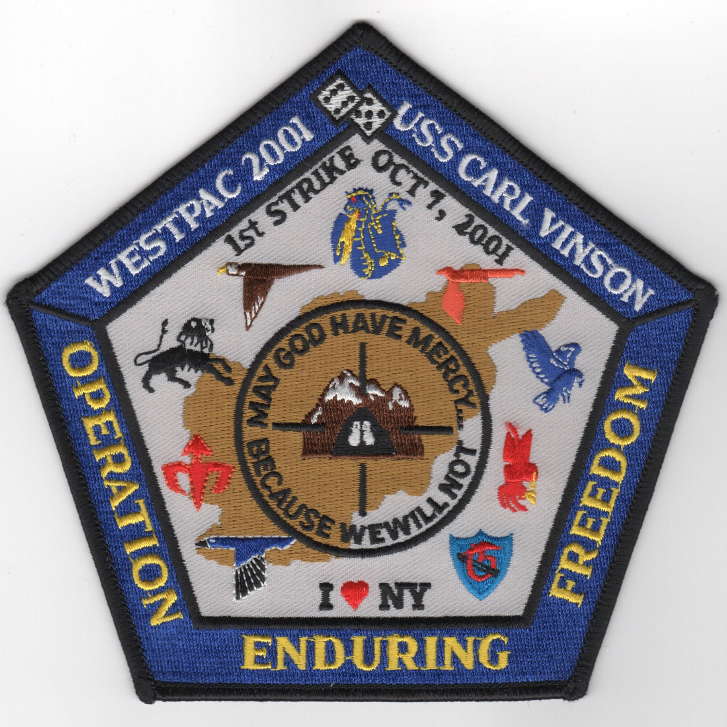 479) CVN-70/CVW-11 2001 OEF/WESTPAC Patch