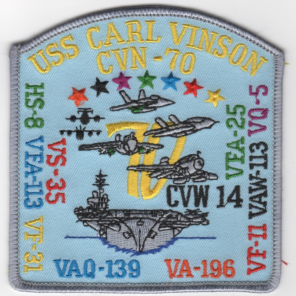 482) VA-196/CVN-70/CVW-14 1994 WESTPAC Cruise Patch