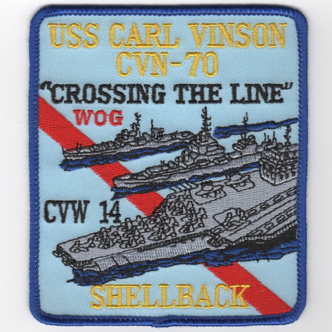 483) CVN-70/CVW-14 1994 SHELLBACK Patch