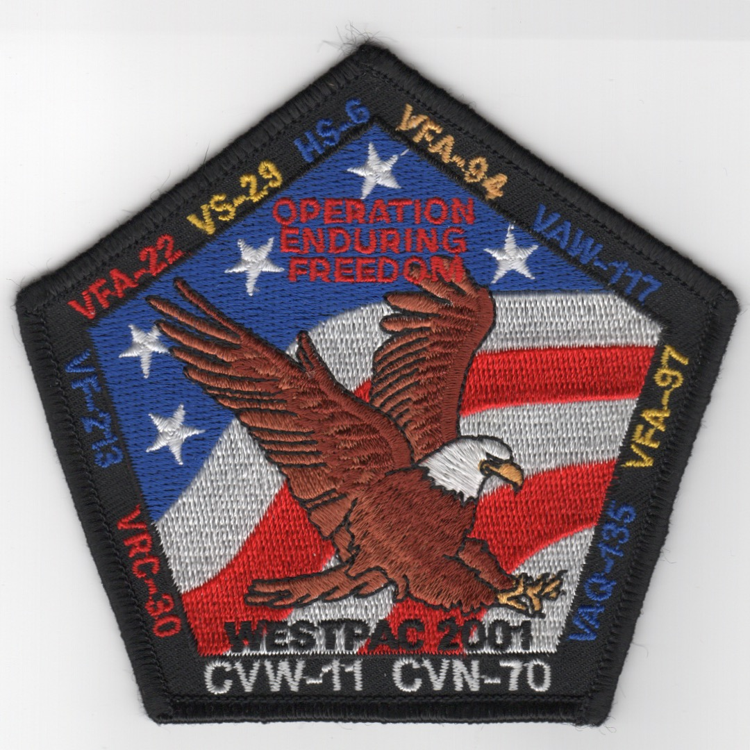484) CVN-70/CVW-11 2001 WESTPAC/OEF Patch