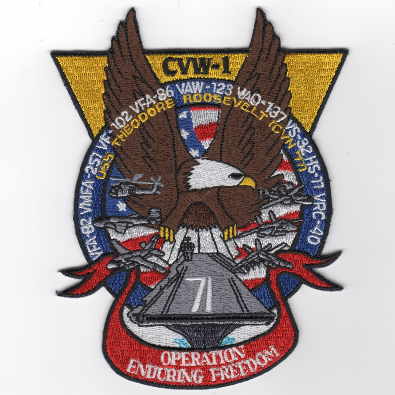 496) CVN-71/CVW-1 'OEF' Cruise Patch