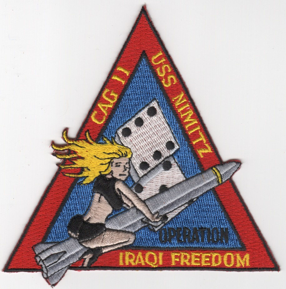 CVN-68/CVW-11 OIF Cruise Patch (Tri)