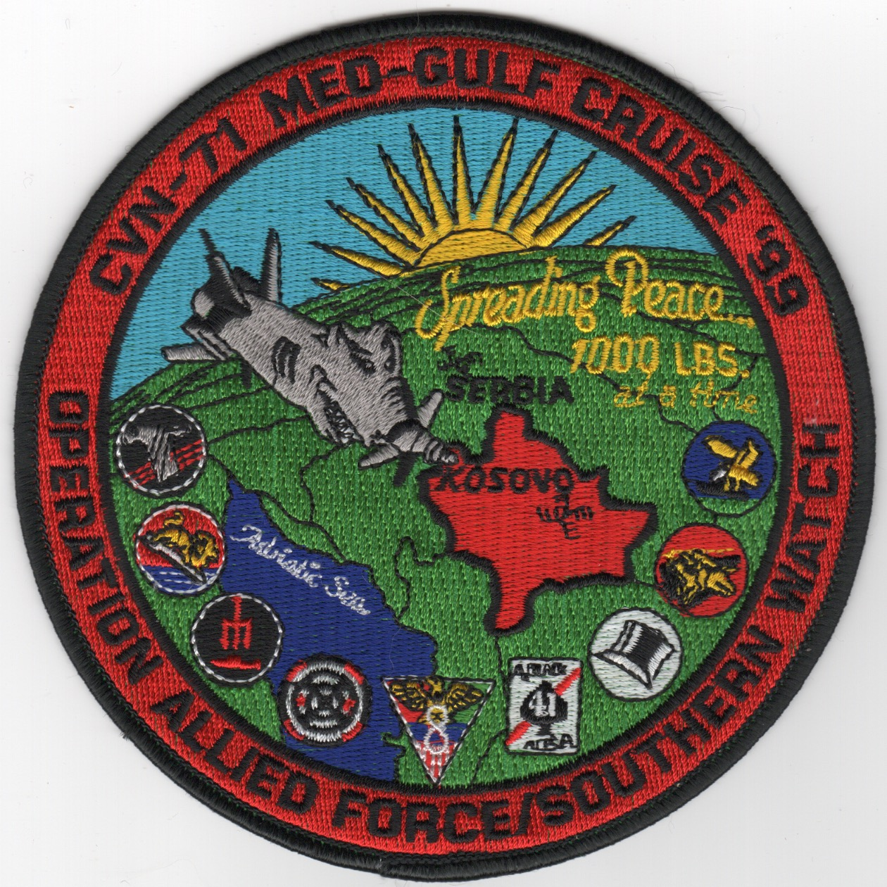 501) CVN-71/CVW-8 'OAF/OSW' Cruise Patch
