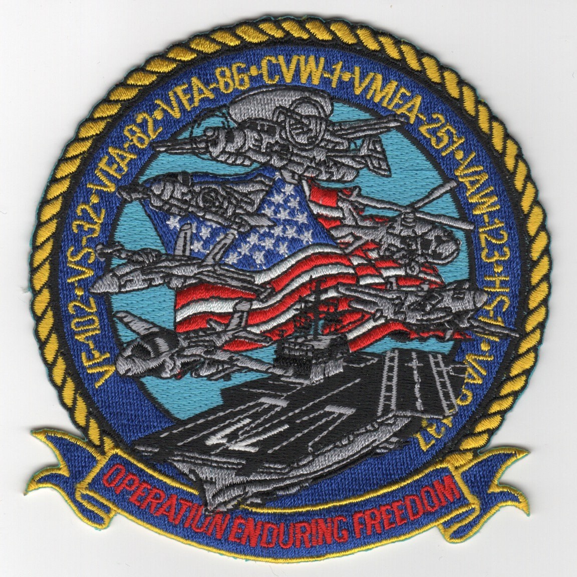 504) VFA-82/CVN-71/CVW-1 'OEF' Cruise Patch