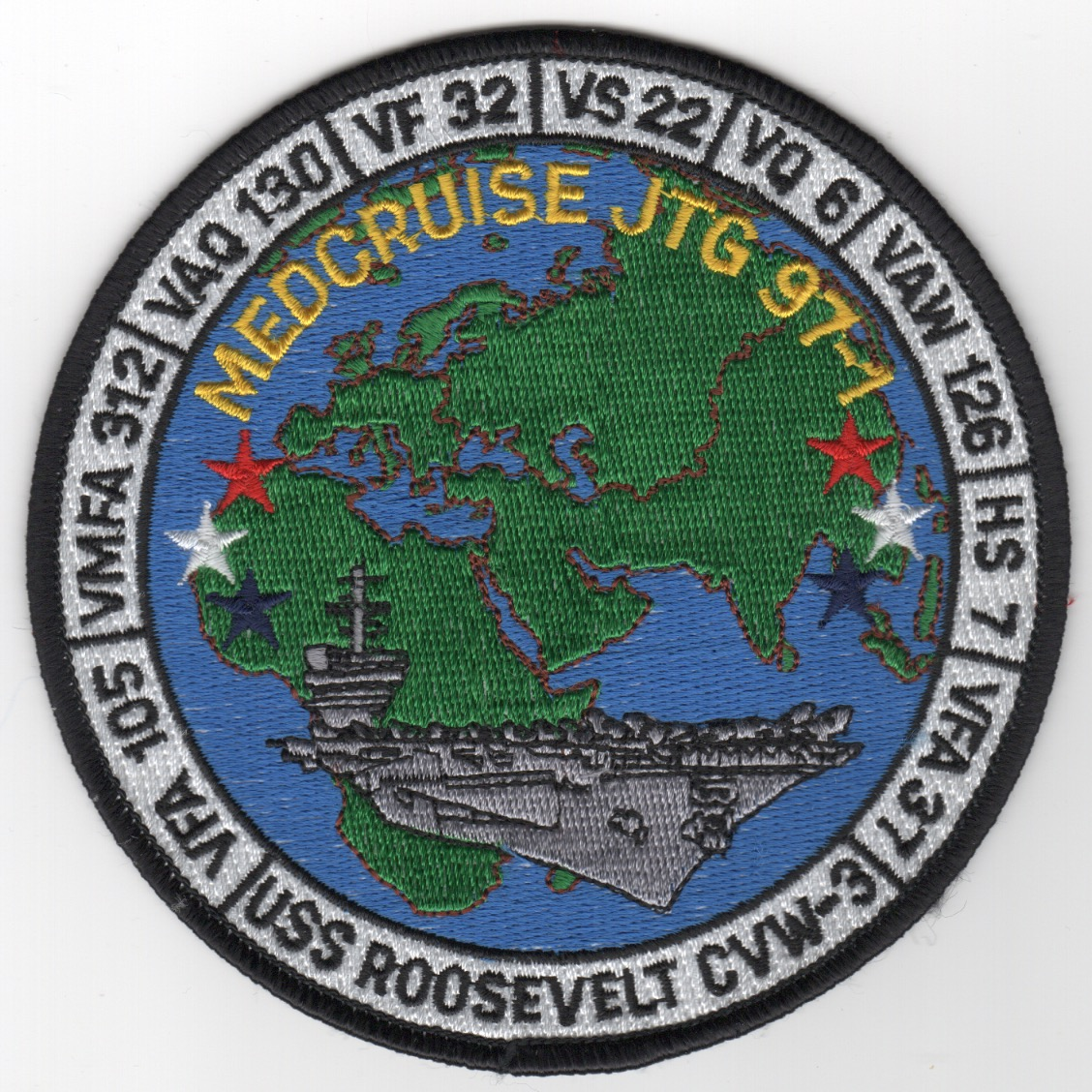 506) CVN-71/CVW-3 1997 'MED' Cruise Patch