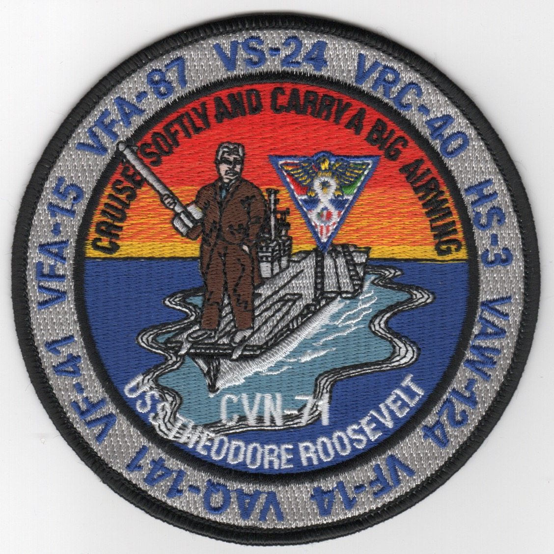 507) CVN-71/CVW-8 1999 'MED' Cruise Patch