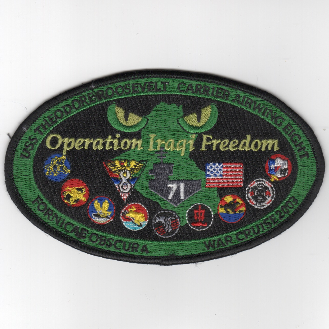 509) CVN-71/CVW-8 2003 'OIF' Cruise Patch