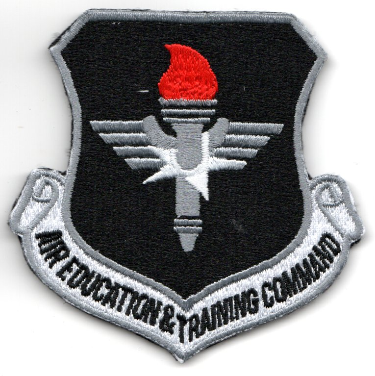 50 FTS 'AETC' Crest (Black/Red Flame)