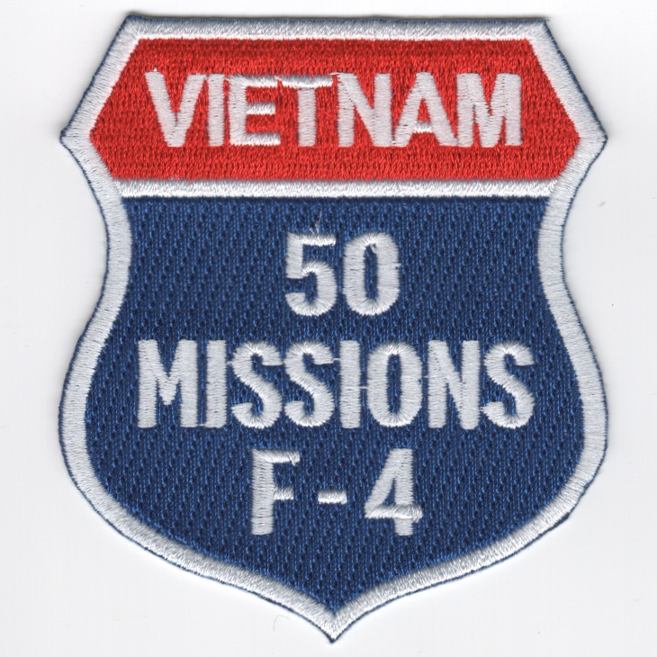F-4 '50 Missions/North Vietnam' Shield Patch