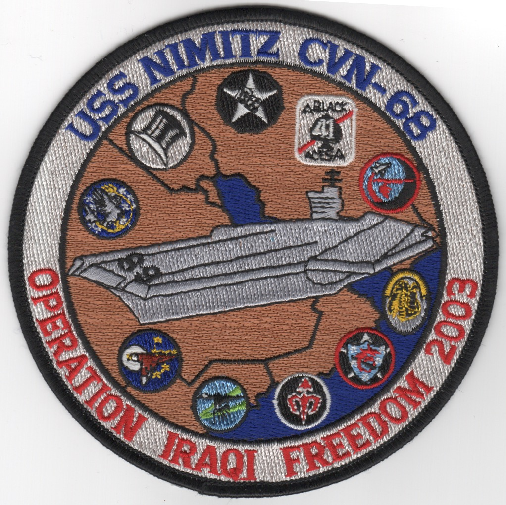 CVN-68/CVW-11 OIF Cruise Patch (Round)