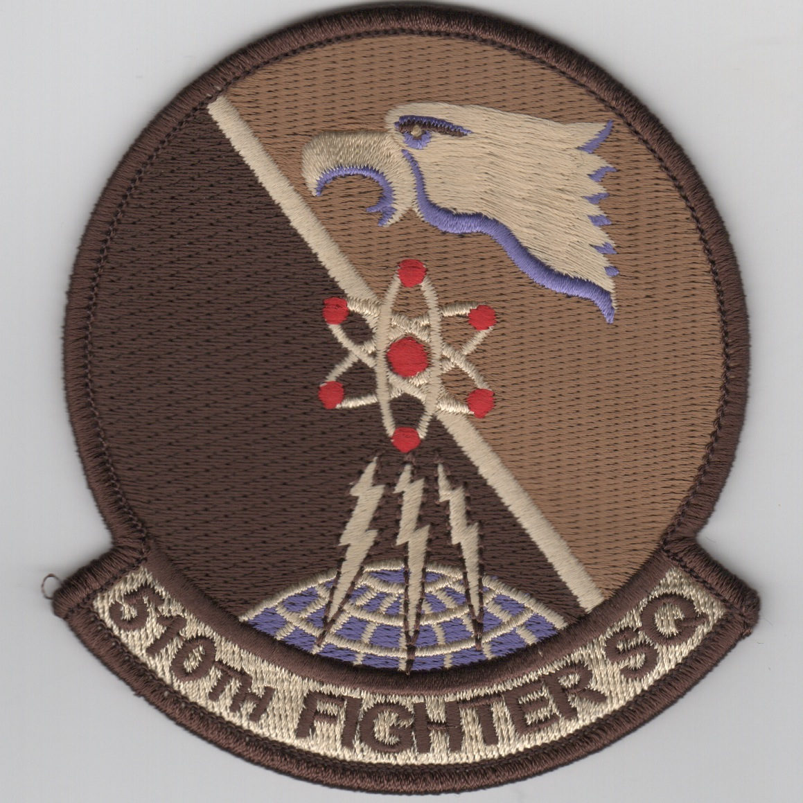 """524th FIGHTER SQUADRON /""""HOUNDS OF HEAVEN/"""" desert patch"""
