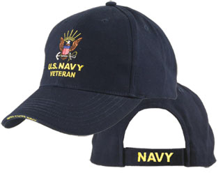 US NAVY VETERAN Ballcap (Logo on Top)
