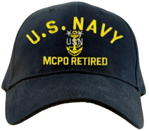 USN RANK Ballcaps!
