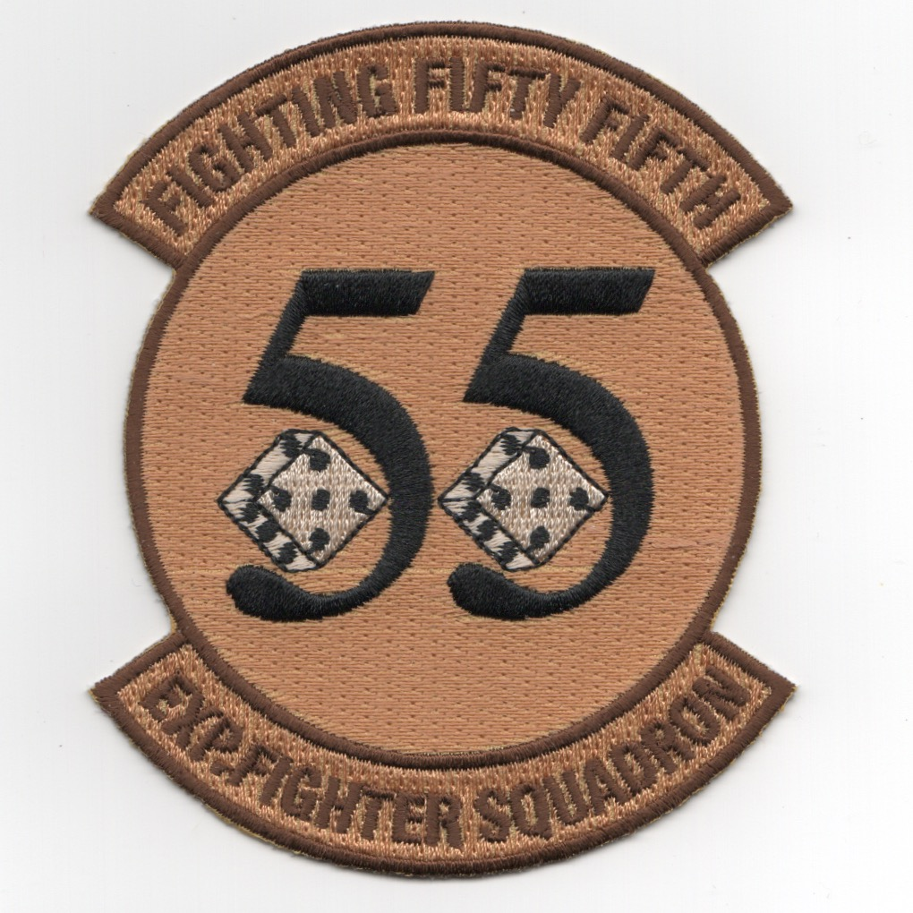 55 EXPEDITIONARY Fighter Squadron Patch (Desert)