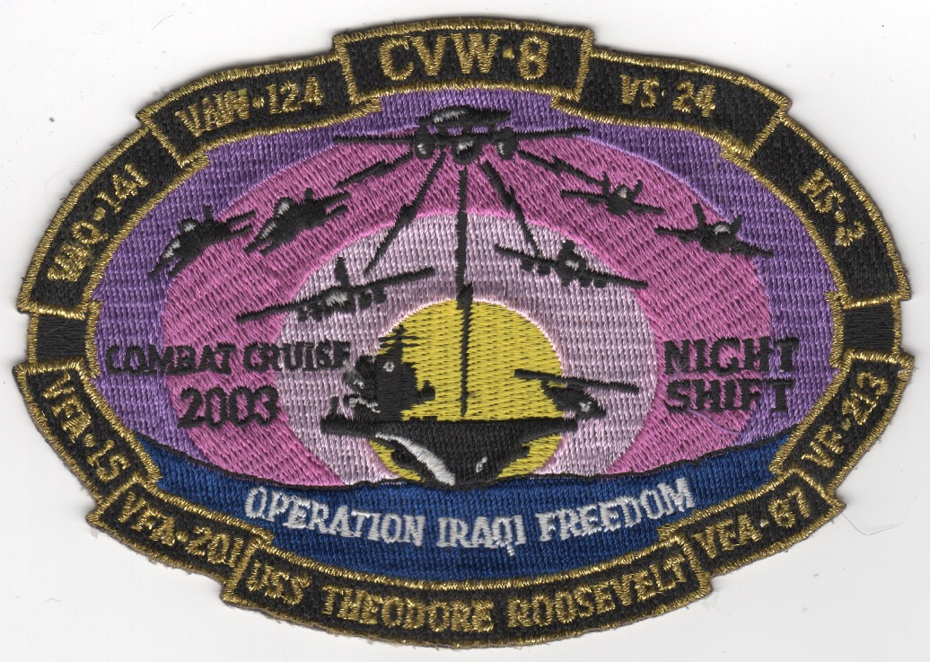 CVN-71/CVW-8 '2003 OIF' Cruise Patch