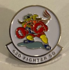 62FS 'LAPEL PIN' (White)