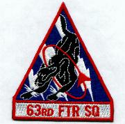 63rd Fighter Squadron Patch (Tri)