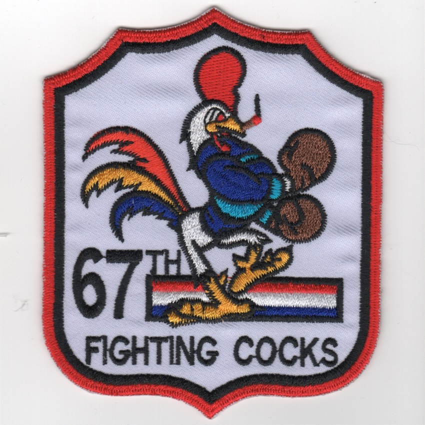 67FS 'Fighting Cocks' Shield (White/K)