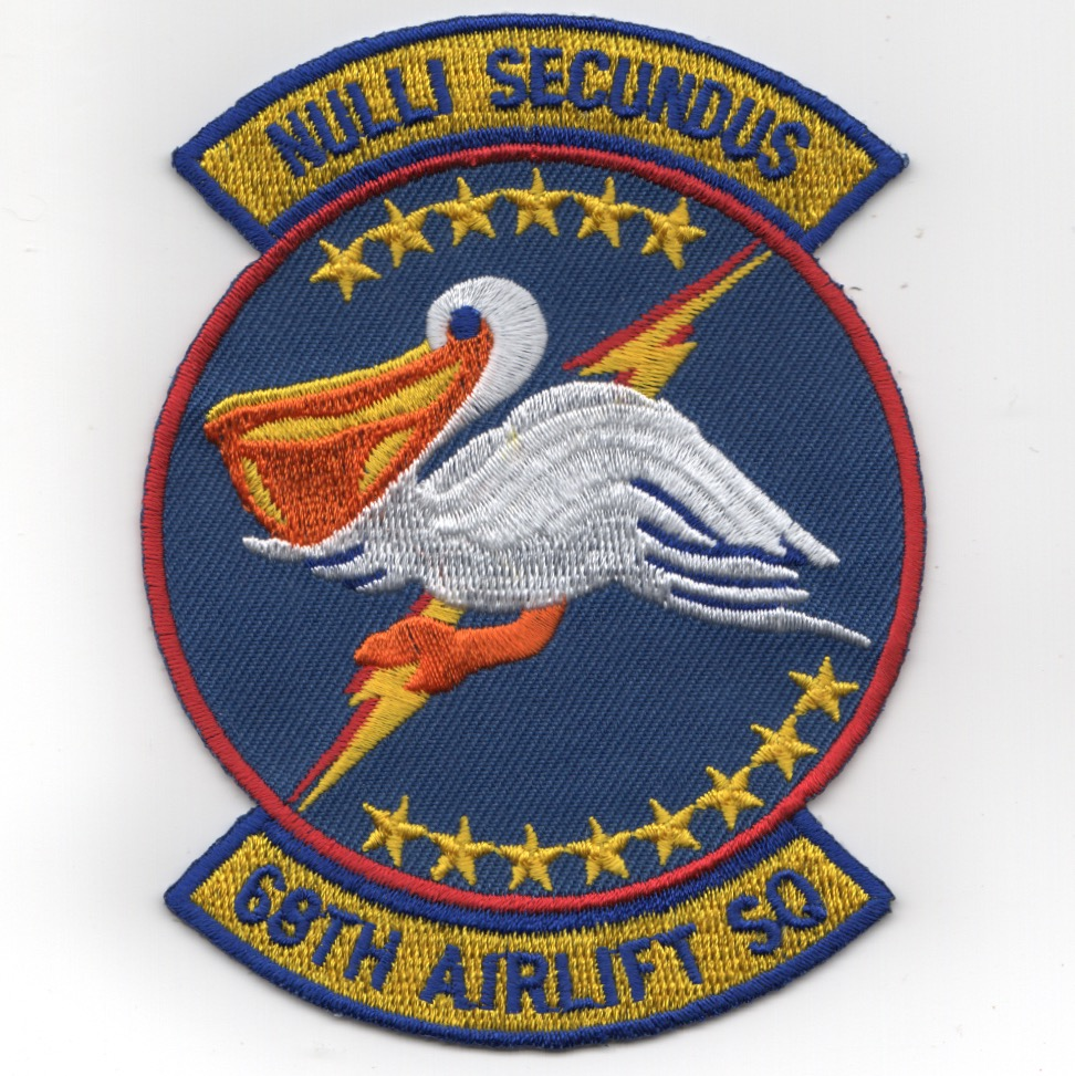 68th Airlift Squadron Patch (Blue)