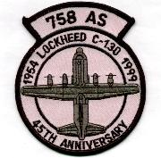 758th ALS 45th Anniversary Patch