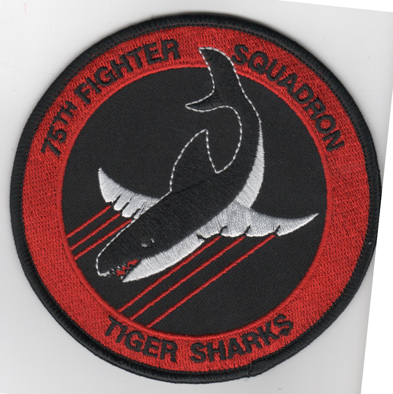 75FS Patch (Red/Black Shark)