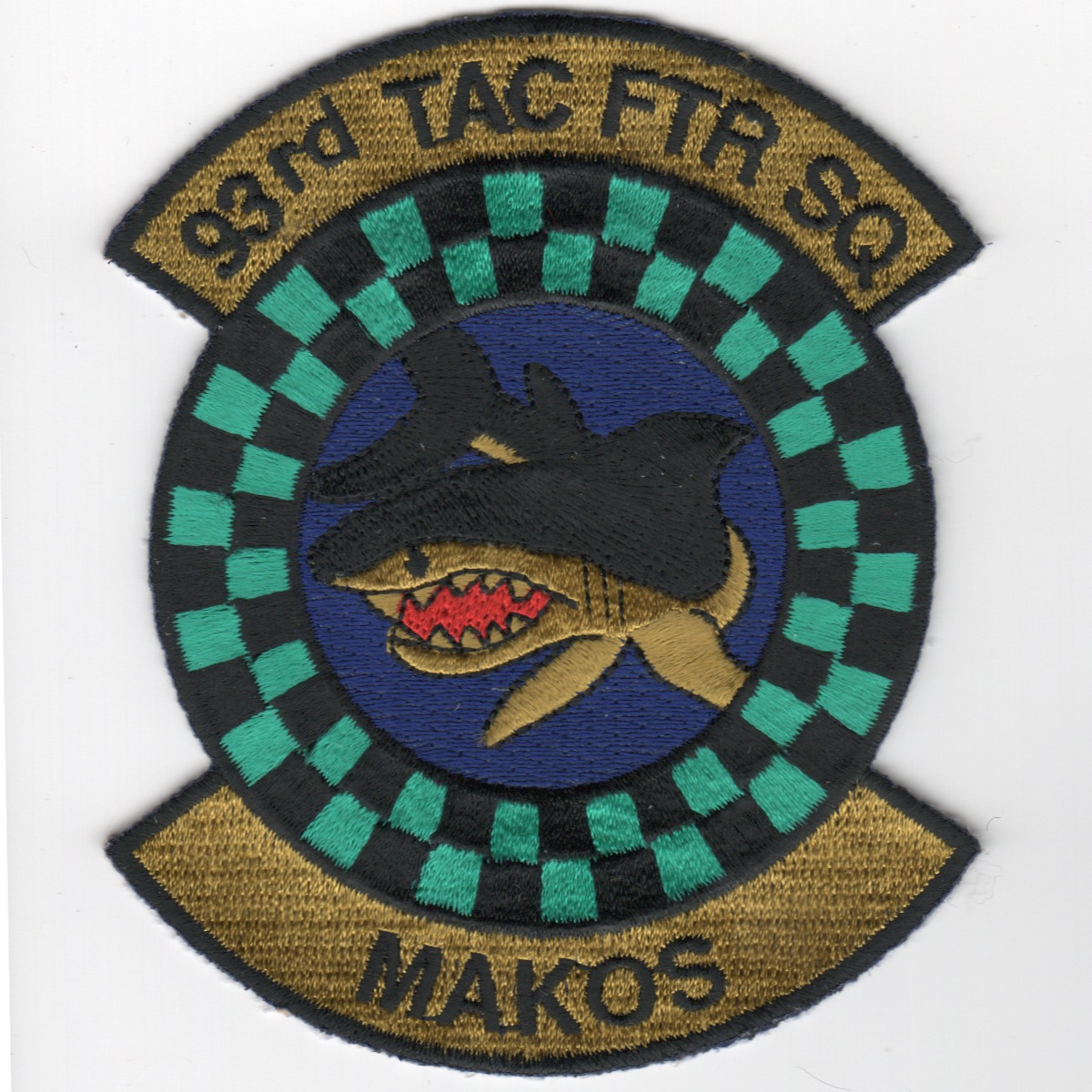 93d TFS 'Makos' Historical Patch (Subdued)