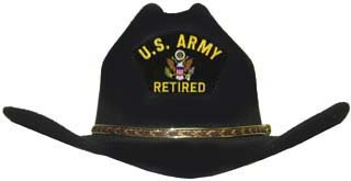 US Army (Retired) Cowboy Hat