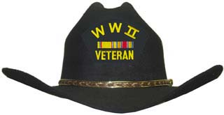 WWII Veteran Cowboy Hat (Ribbons)