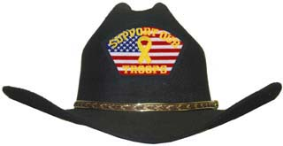 I Support Our Troops - Cowboy Hat
